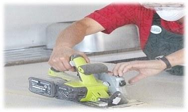 كيفية عمل فتحة لتركيب حوض المطبح