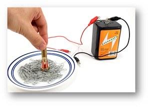 تجربةعلمية للأطفال مغناطيس كهربائي